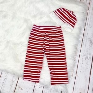 Red & White Striped Candy Cane Pants & Hat